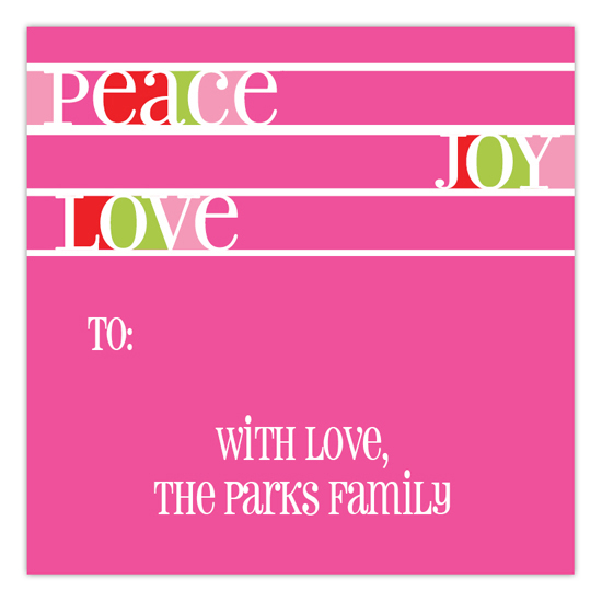 Pink Peaceful Holidays Square Sticker