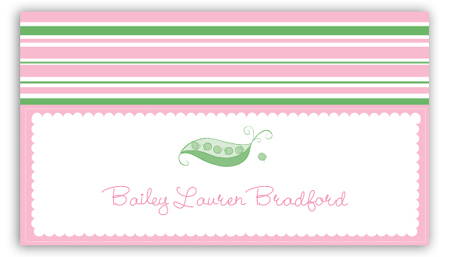 Pink Peapod Calling Card