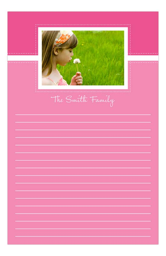 Pink Photo Notepad