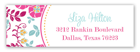 Pink Poppies Address Label