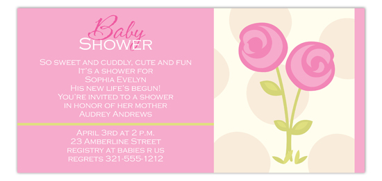 Pink Posies Invitation