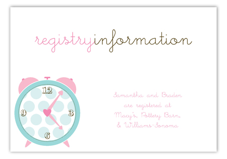 Pink Round the Clock Enclosure Card