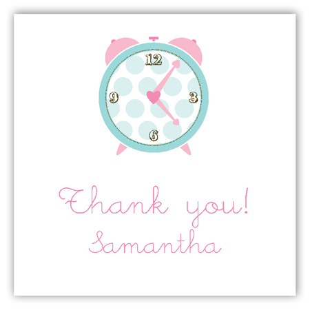 Pink Round the Clock Square Sticker
