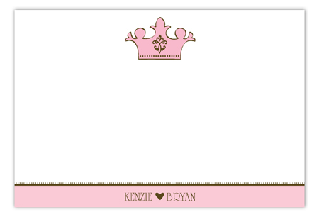 Pink Royal Flat Note Card