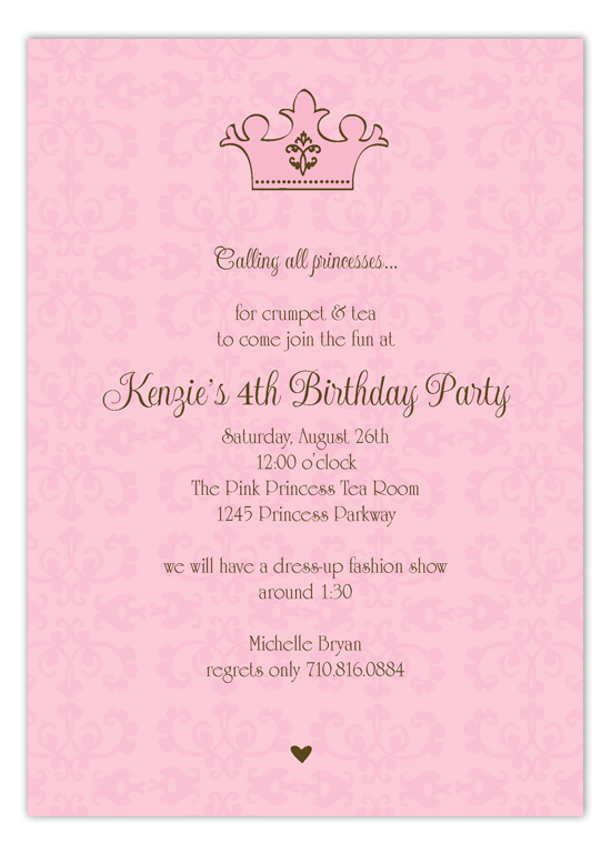 Pink Royal Invitation | Polka Dot Invitations