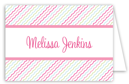 Pink Ruffles Folded Note Card