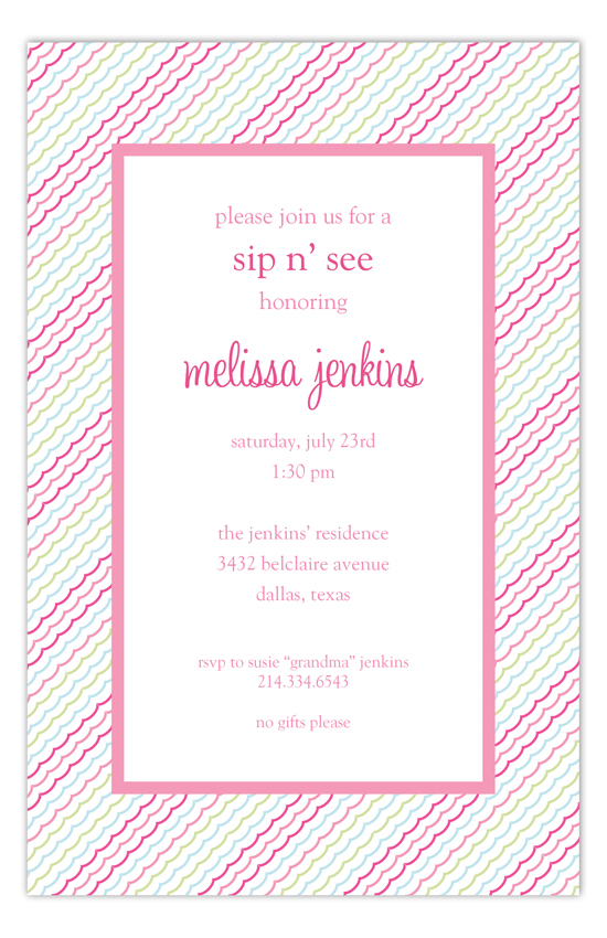 Pink Ruffles Invitation