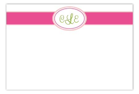 Pink Senior Seal Flat Note Card