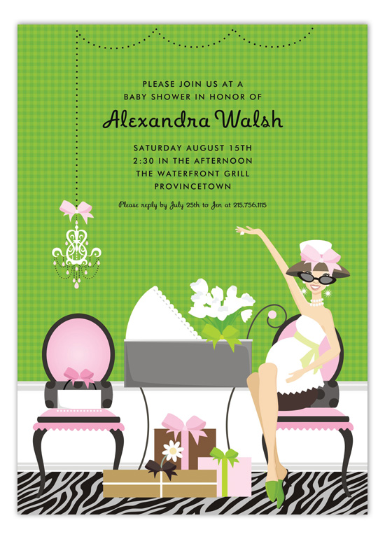 Pink Showered in Style Invitation