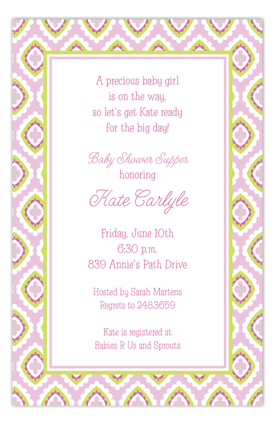 Pink Tile Pattern Invitation