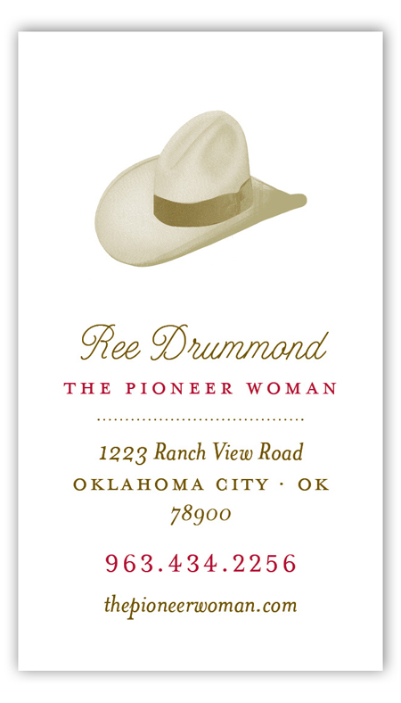 Pioneer Days Hat Calling Card