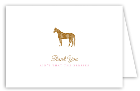 Pioneer Days Horse Note Card