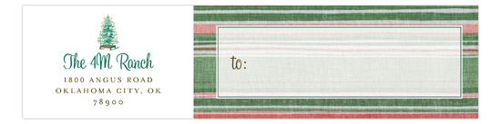 Pioneer Days Tree Envelope Wrap Address Label