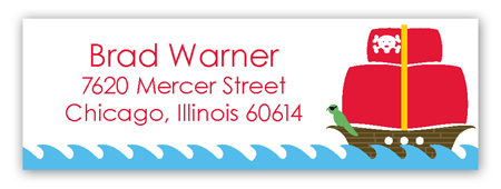 Pirate Party Address Label