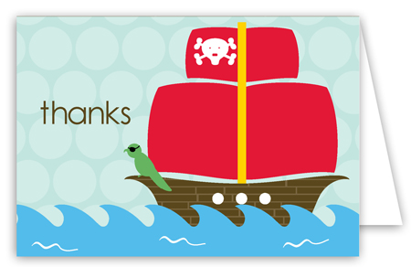 Pirate Party Folded Note Card