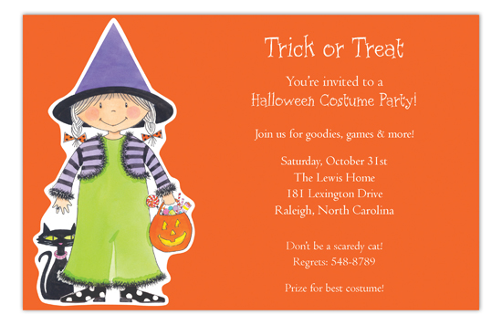 Pixie the Witch Invitation