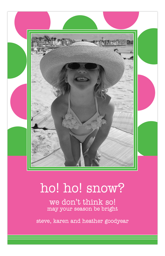 Playful Polka Dot Photo Card