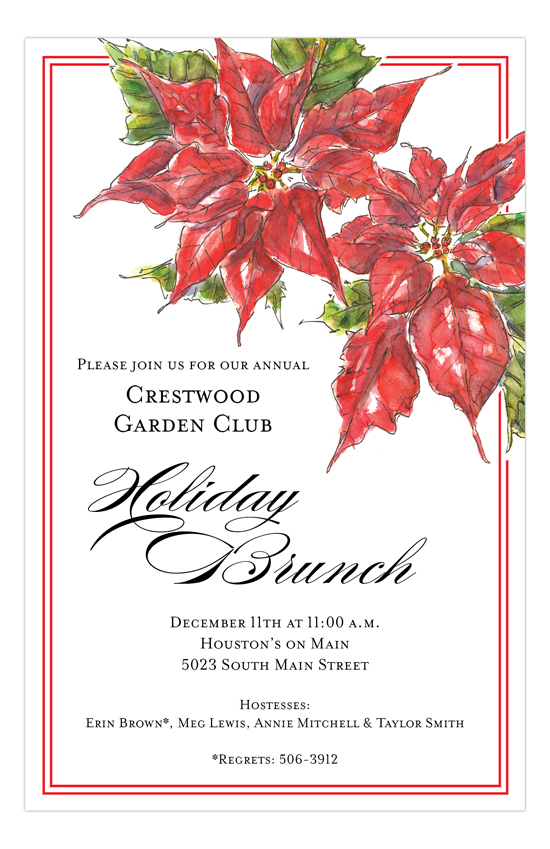 Poinsettia Invitation