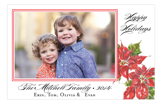 Poinsettia Photo Card