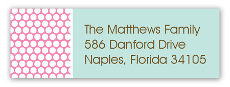 Polka Dot Undies Address Label