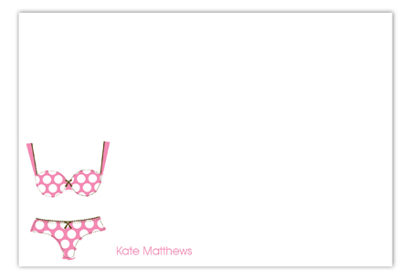 Polka Dot Undies Flat Note Card