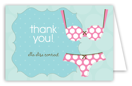 Polka Dot Undies Folded Note Card