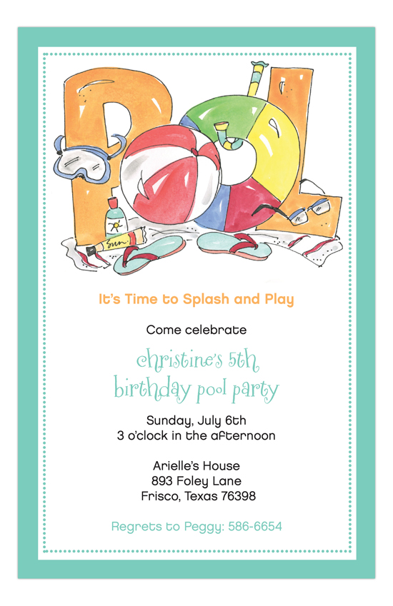Pool Time Invitation