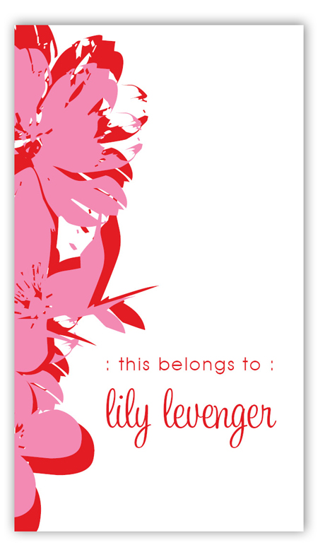 Pop Art Flowers Pink Calling Card