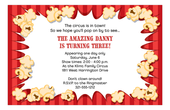 Popcorn Movie Night Invitation