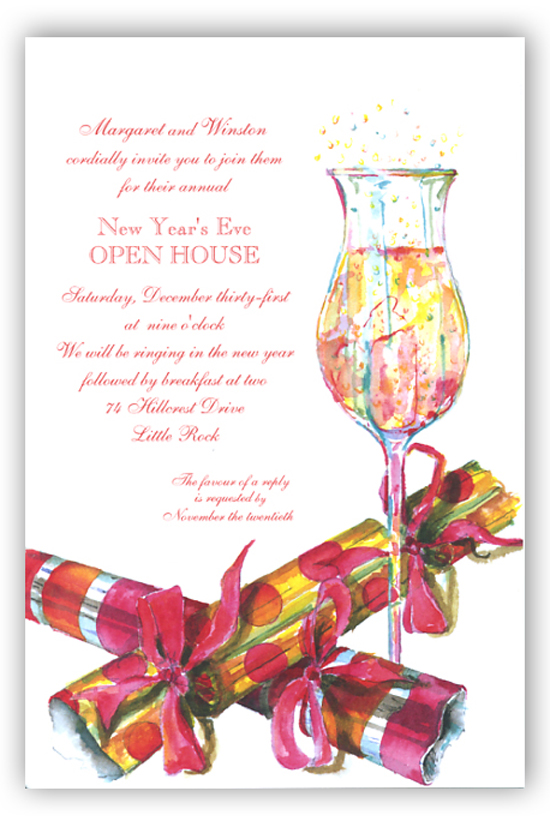 Poppers and Fun Invitation