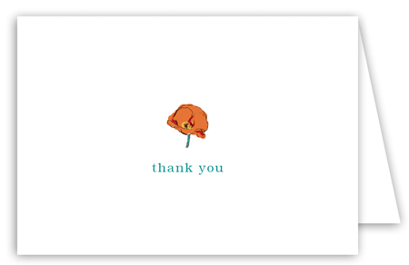 Poppy Talk Note Card