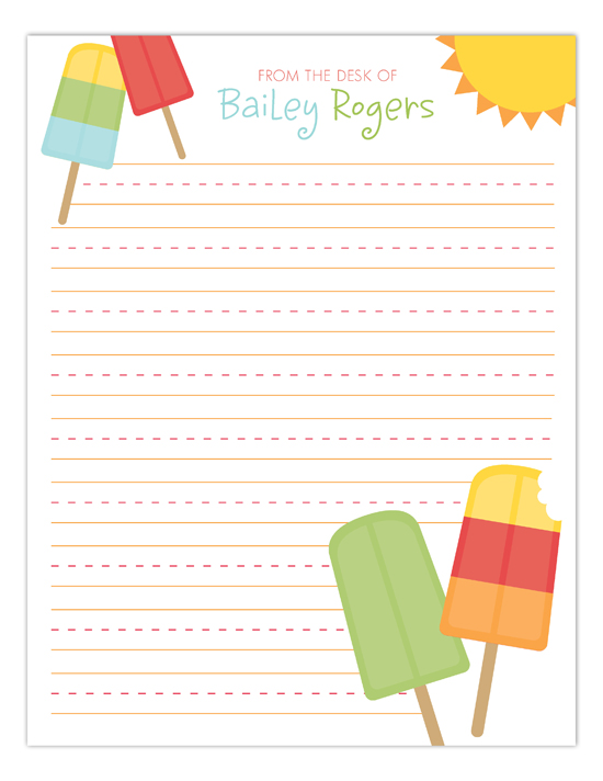 Popsicles Notepad