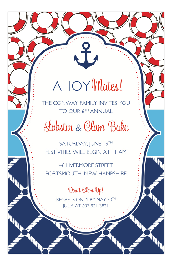 Calendar Design Templates : Preppy anchor nautical shower invitations polka dot design