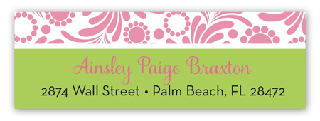 Preppy Elephant Address Label