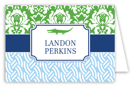 Preppy Gator Note Card