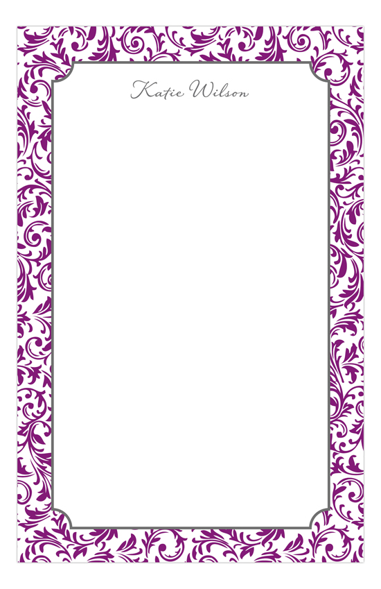 Pretty in Purple Custom Notepads