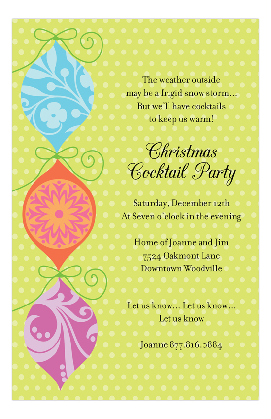 Pretty Ornament Invitation