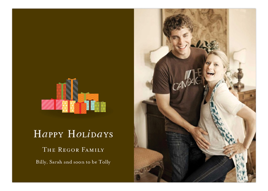 Pretty Packages Brown Horizontal Photo Card