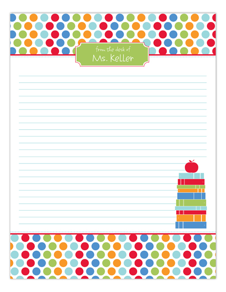 Primary School Stack Notepad