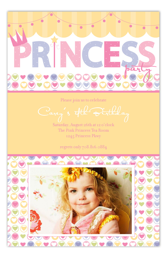 Princess Party Photo Card