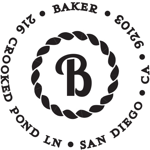 Baker Personalized Stamp