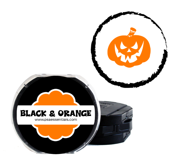Black and Orange Two-Color Ink Cartridge