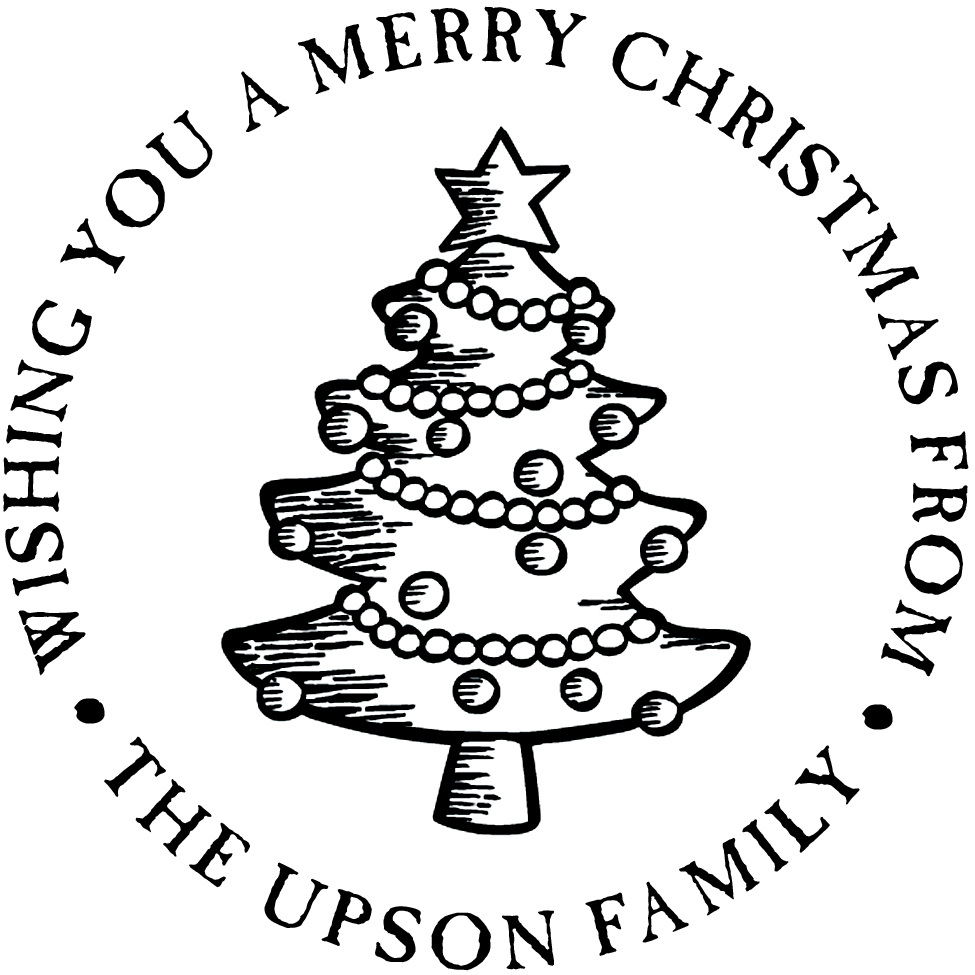 Christmas Tree Personalized Stamp