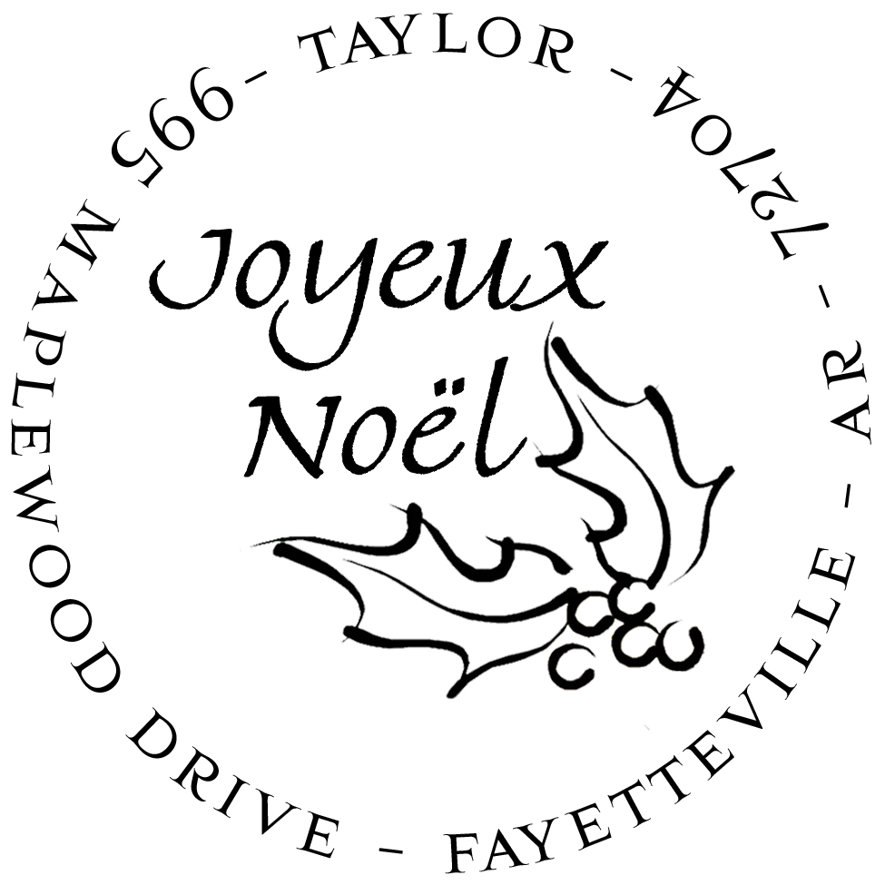 Noel Personalized Stamp