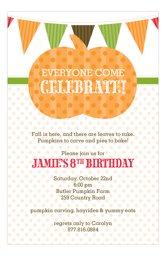Pumpkin Fest Invitation