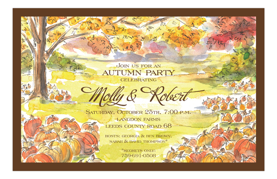 Pumpkin Field  Invitation