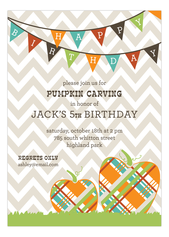 Pumpkin Fun Invitation