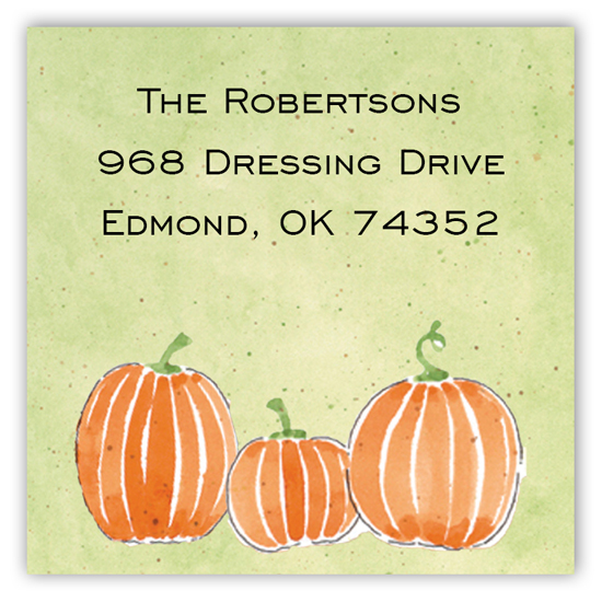 Pumpkin Patch Square Sticker