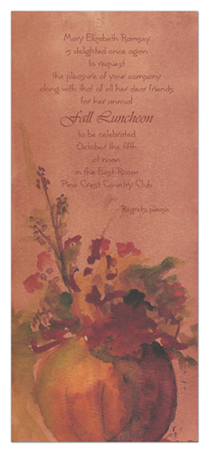 Pumpkin Planter Invitation