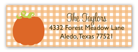 Pumpkin Turning One Address Label